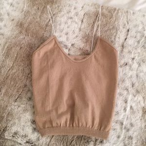 Free People Shimmer Crop Top